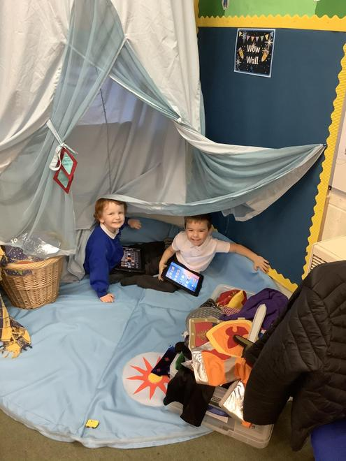Chilling out in our role play area