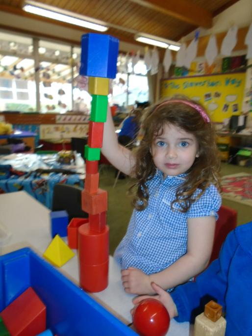 Ingrid wanted to make the tallest tower!