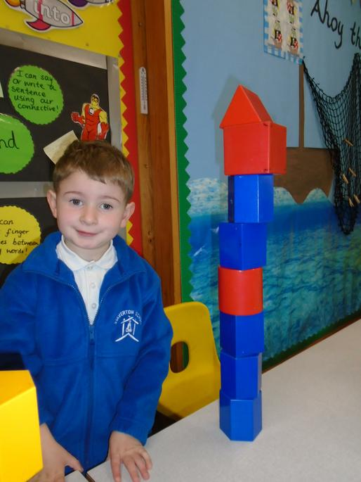 Jack loves making towers as tall as they will go!