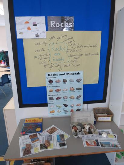 Come and explore our display table. Can you identify each rock?