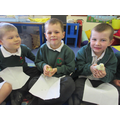 We look after chicks and ducks in the summer term of Class 1