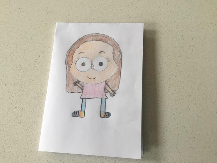 Alice's card for her Granny & Grandad