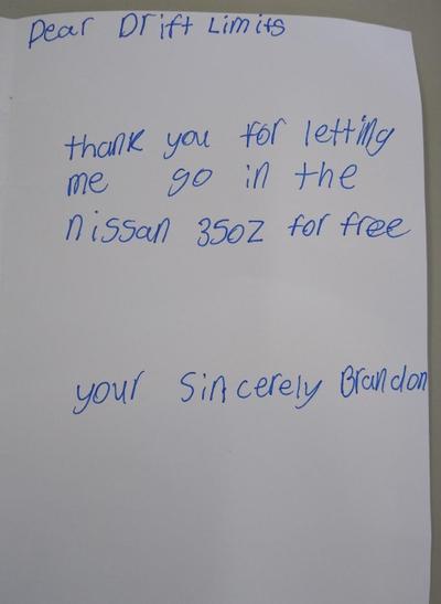 Brandon's thank you message