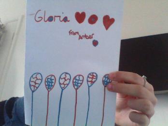 Amber's card her neighbour