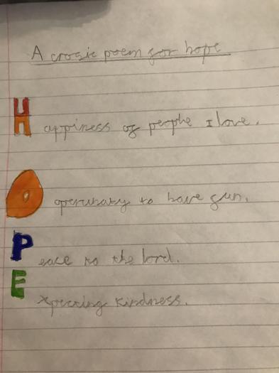 Hope Acrostic Poem