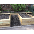 Raised beds in place!