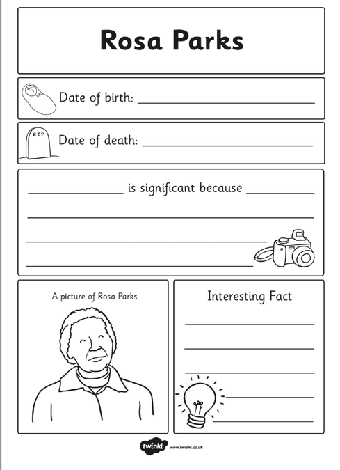 Fact File Blank Template