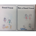 Year 1 pictures of good friend actions.