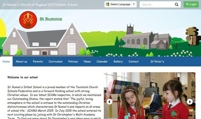 Image of St Rumon's Church of England Infants School website