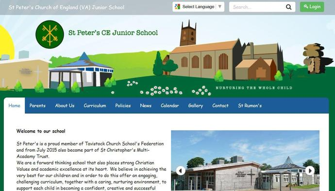 Image of St Peter's Church of England Junior School website