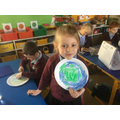 We made an Earth Day craft.