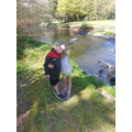 Leon and Tamzin enjoy a walk by the river