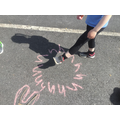 We chalked the letters too!