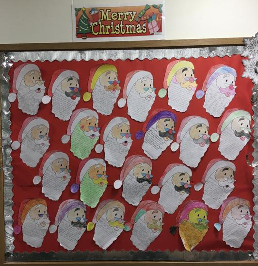 We wrote letters to Santa.