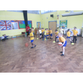 Enjoying our PE lesson
