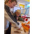 Making chocolate bars during a topic lesson