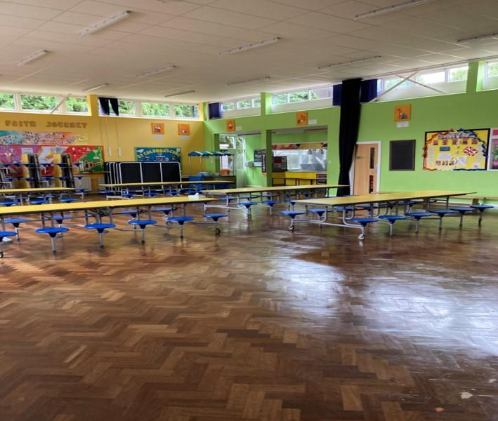 Reception pupils will have their lunch in the hall