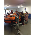 Tim gave us a tour of the lifeboat