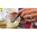 Adding vinegar to milk