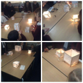 Japanese Lanterns lit up with electrical circuits