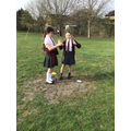 We did a range of outdoor maths. This group were seeing how tall a structure they could ma