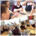 Challah bread making learning about Judaism!