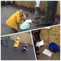 Investigating materials outside!