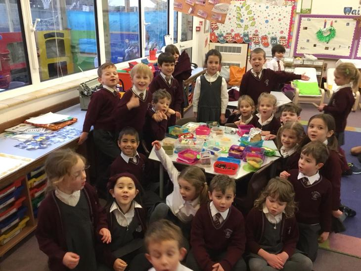 The Children brought in food and snacks from different countries of the world.