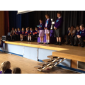 Candidates for house captain giving their speeches