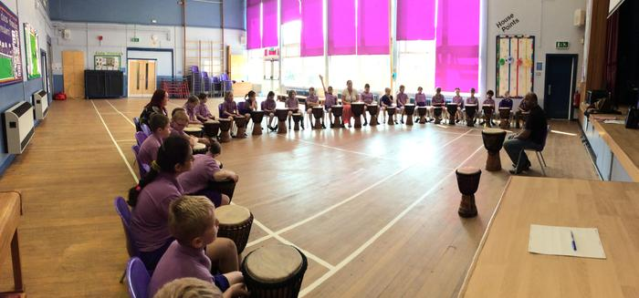 Our first world music session.