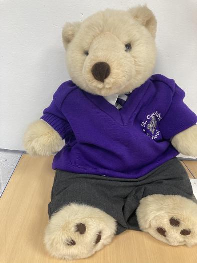 This is our class Mascot Oscar the Polar Bear