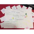 Reception look at what makes Healthy confident individuals