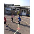 year 3 enjoying PE