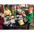 Year 2 exploring recycling materials