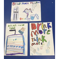 Year 2 Healthy schools judged a poster competition on the importance of drinking water