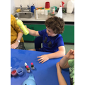 Year 1 creating calming glitter bottles for World mental health day