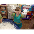 We have been enjoying messy play!