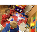We have been colour mixing with white and blue.