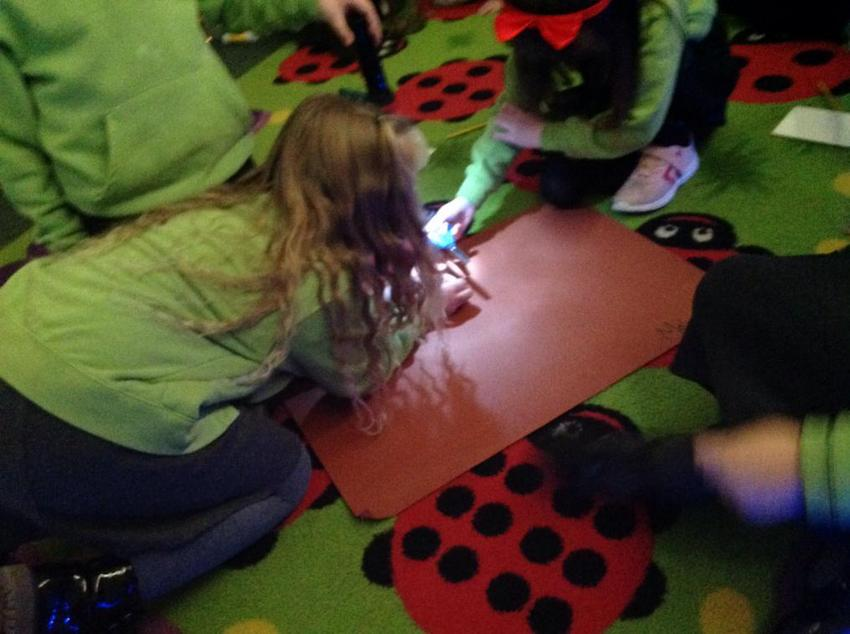 We made shadows using torches :)