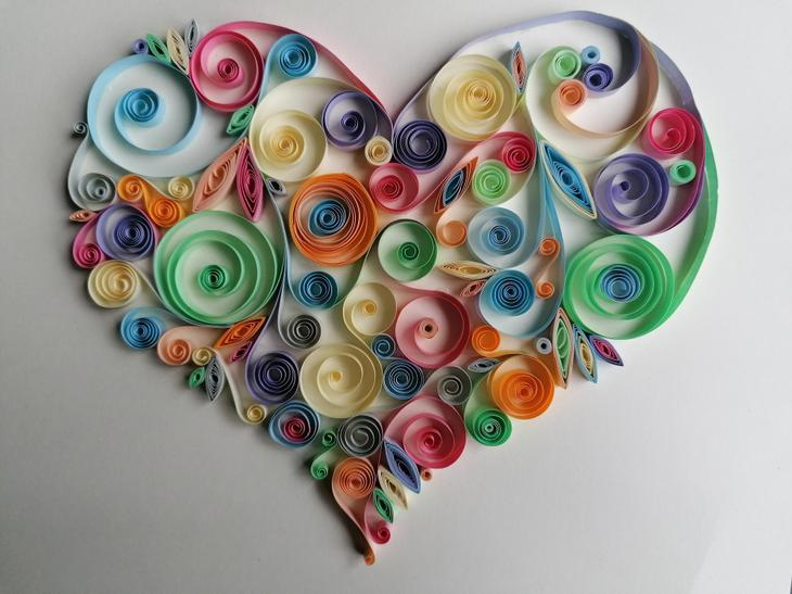 We tried quilling at school and I loved it so much I continued at home!