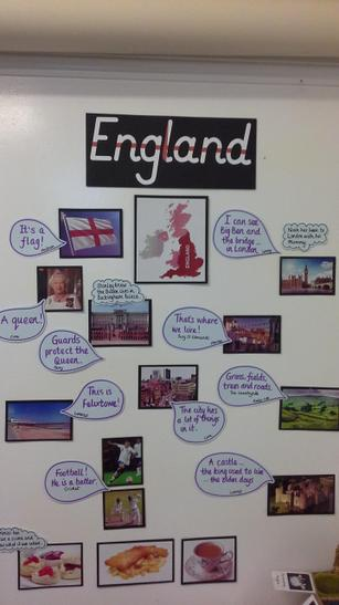 We are in England class