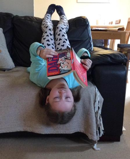 A bit of upside down reading for Bethany...