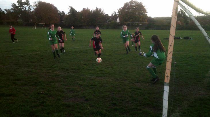 Daisy was great in goal and up front.