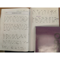 Alina worked hard on using paragraphs accurately in her description.