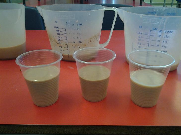 Our Chocolate, raspberry and strawberry milkshake!