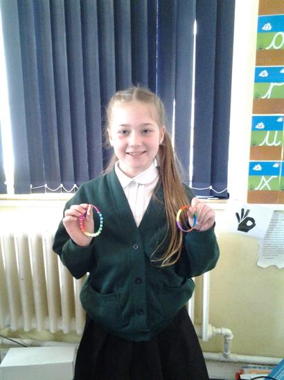 Lilly-Mai raised money for Bury Gym by doing 1000 cartwheels and handstands and the splits
