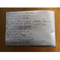 Bethany wrote a lovely postcard for our English learning on the book, 'Gregory Cool'