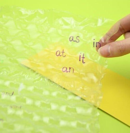 tricky word bubble wrap pop