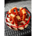 Levi was really imaginative with food items for his model
