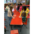 Year 1- Preparing our tables to make our yoghurts